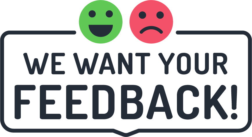 We Want Your Feedback Advertisement