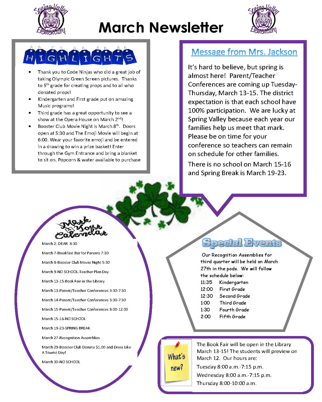 March Newsletter Picture