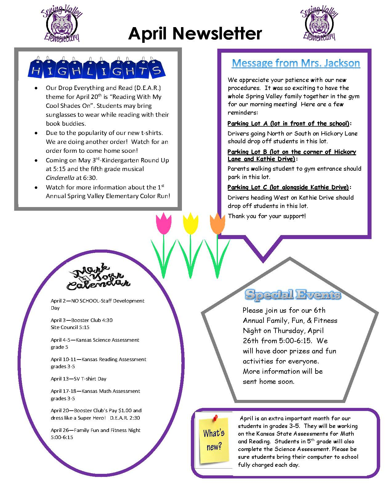 April 2018 Newsletter Picture