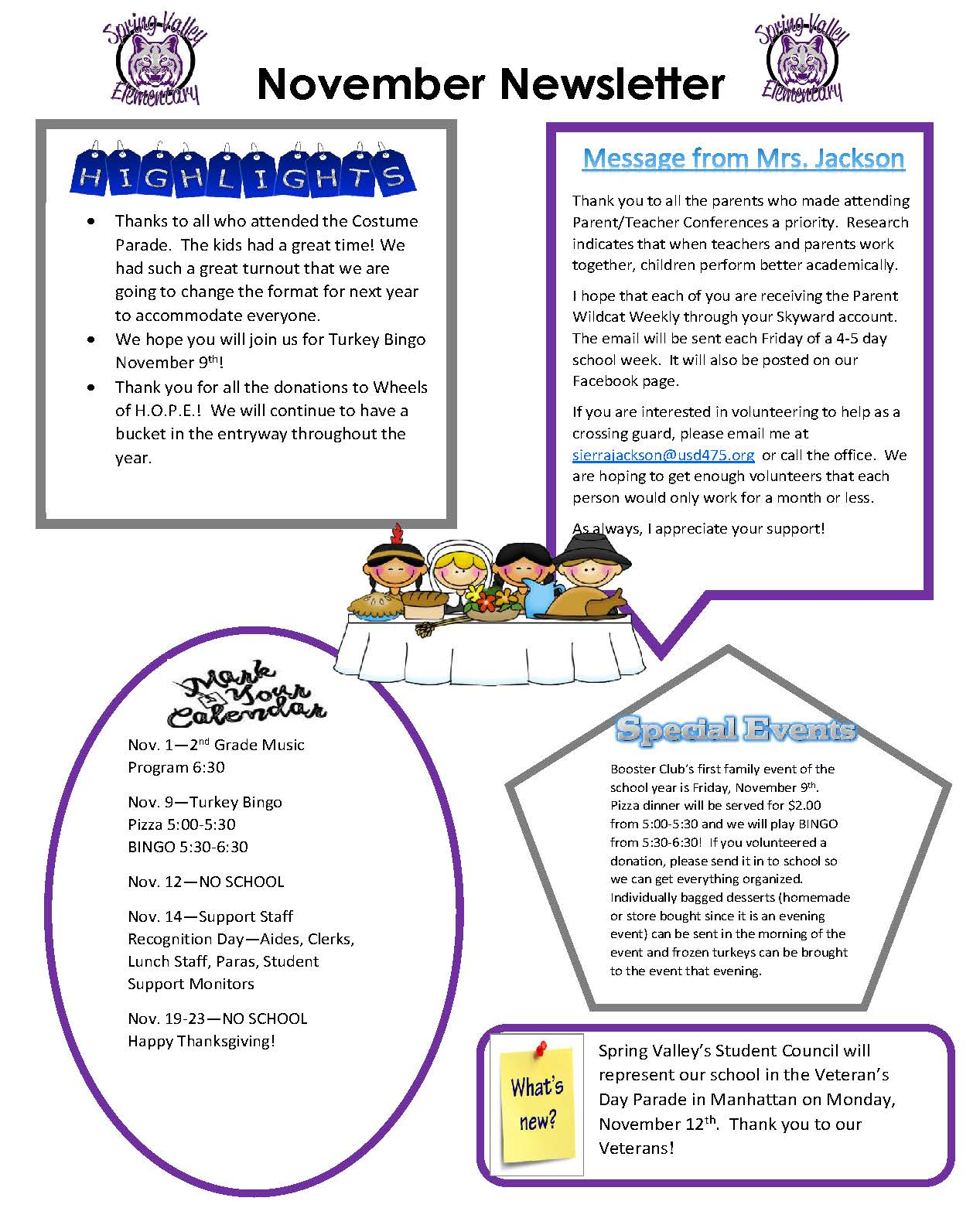 Picture of November 2018 Newsletter