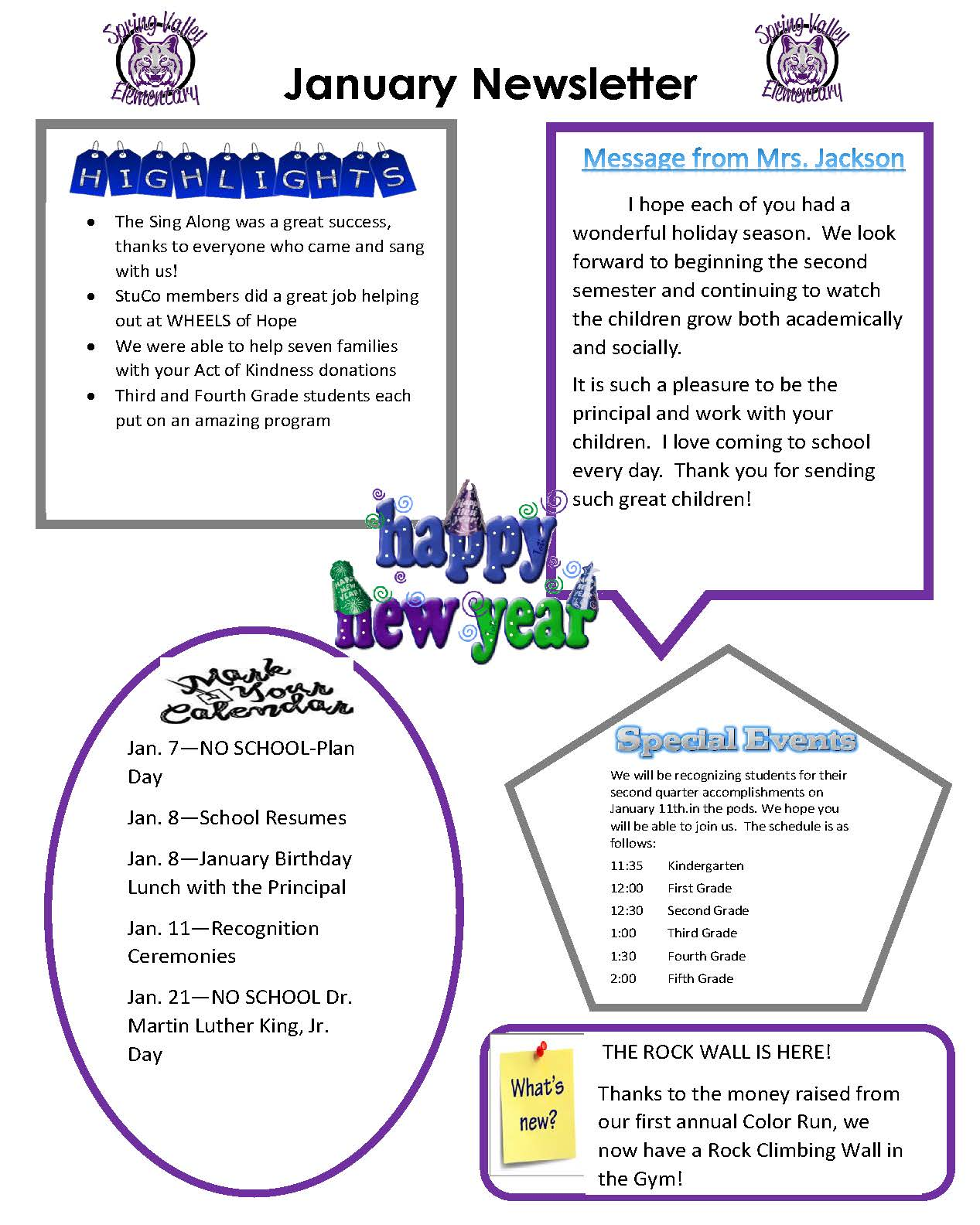 Picture of January 2019 Newsletter