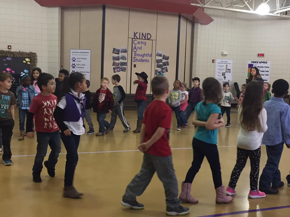 picture of students dancing
