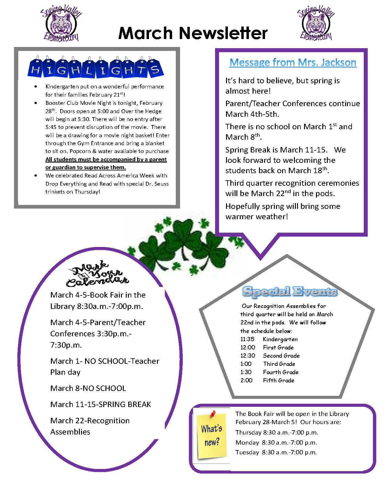 picture of March newsletter