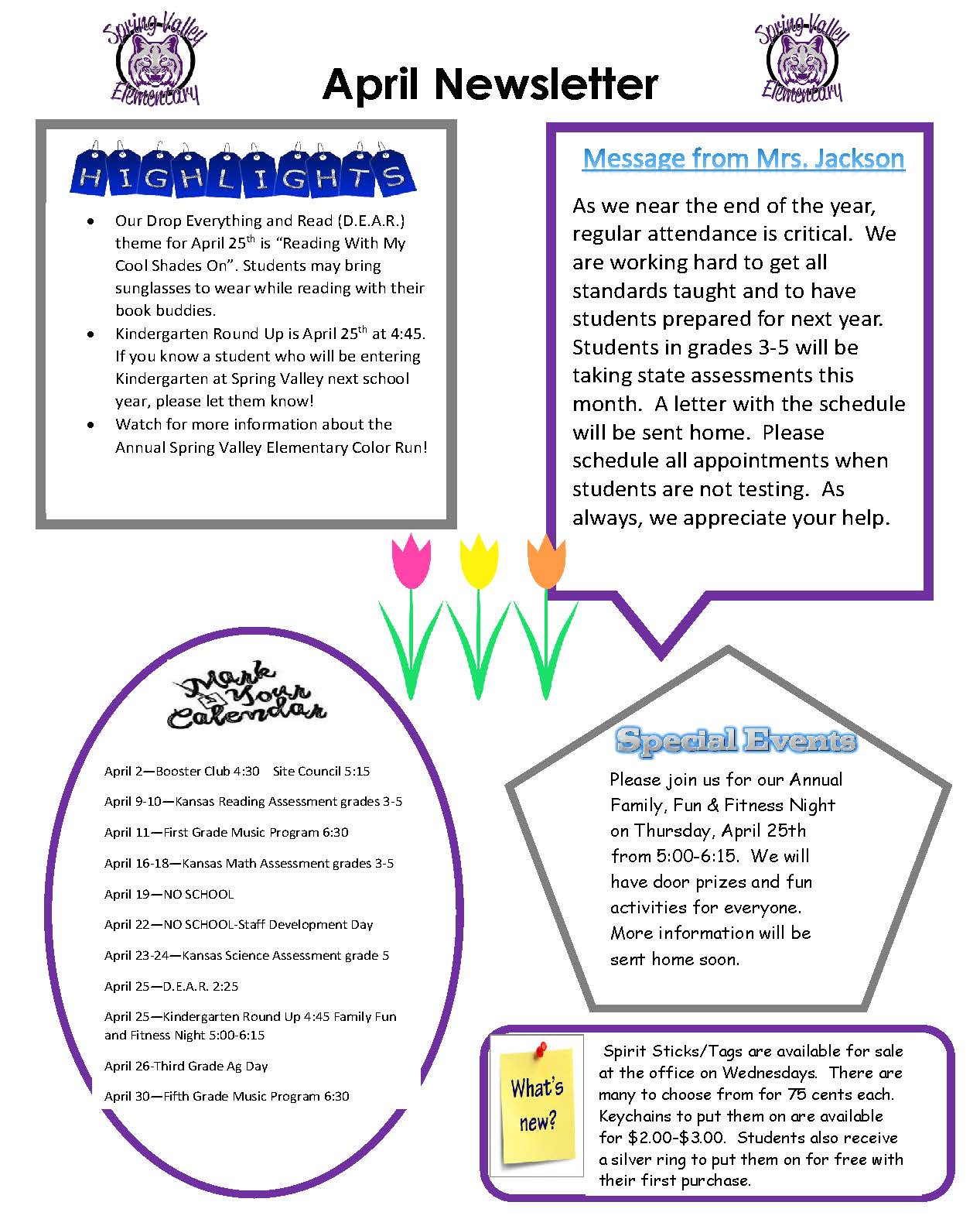 Picture of April Newsletter