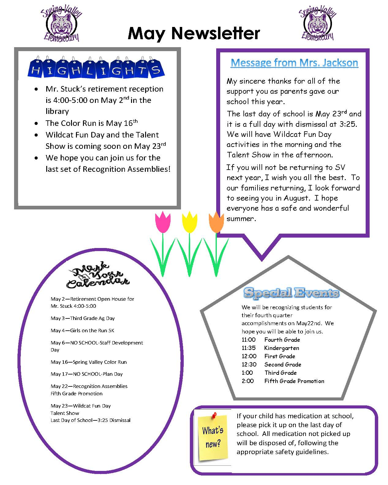 Photo of May Newsletter