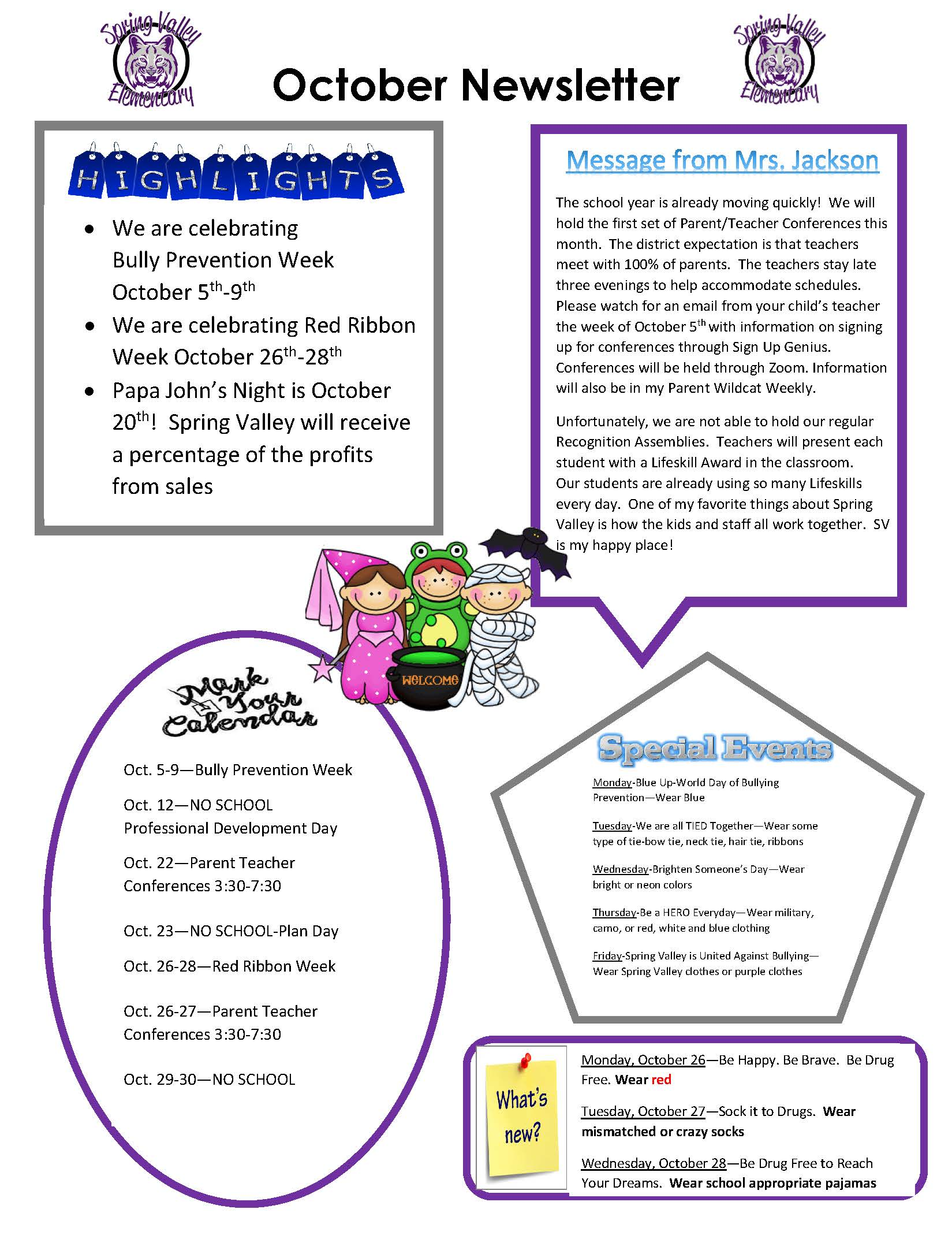 Photograph of October Newsletter