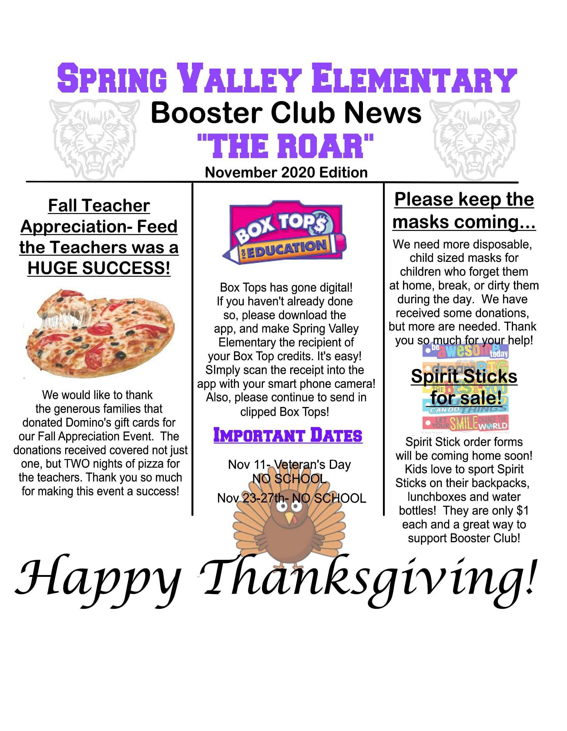 Photograph of Booster Club Newsletter