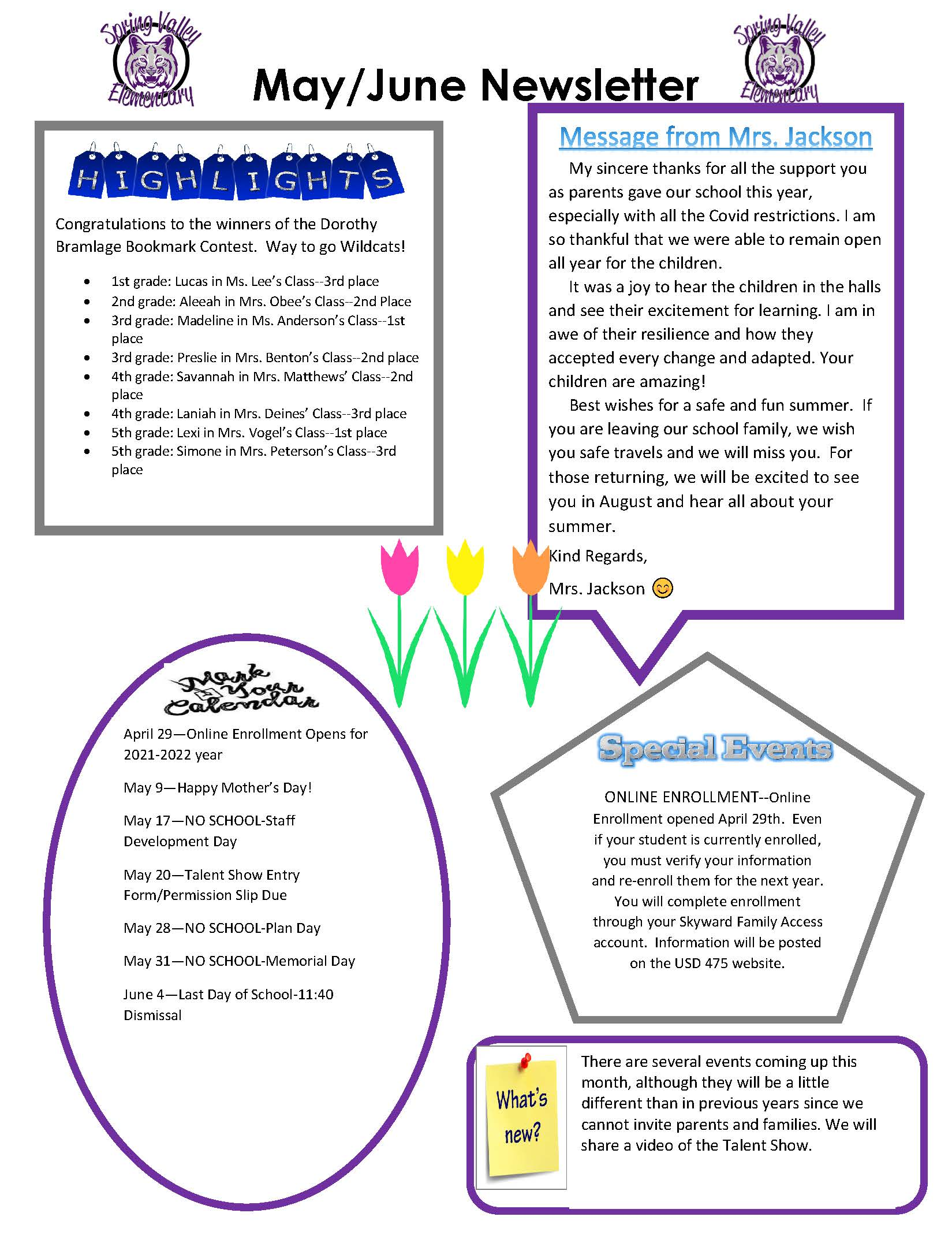 Photograph of May/June Newsletter